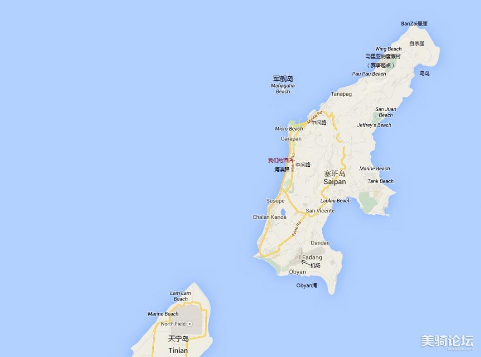 塞班岛地图(地图